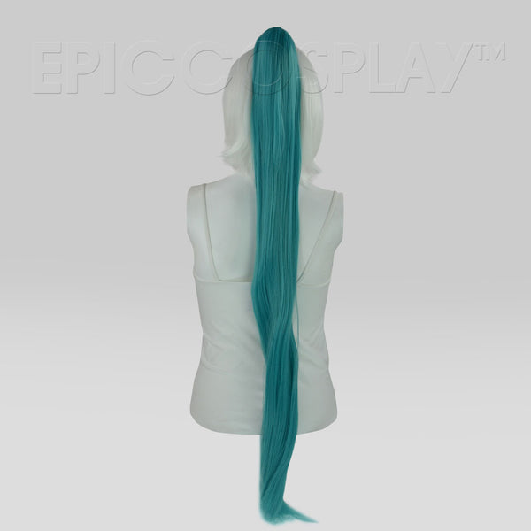 "35"" Vocaloid Green Straight Ponytail Clipon"