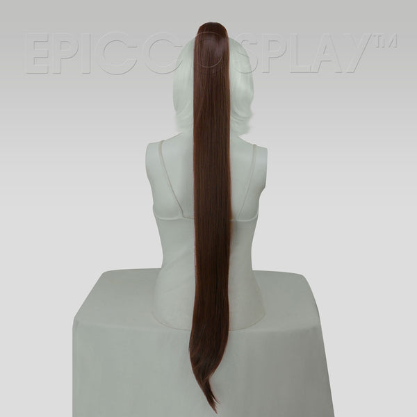 "35"" Dark Brown Straight Ponytail Clipon"