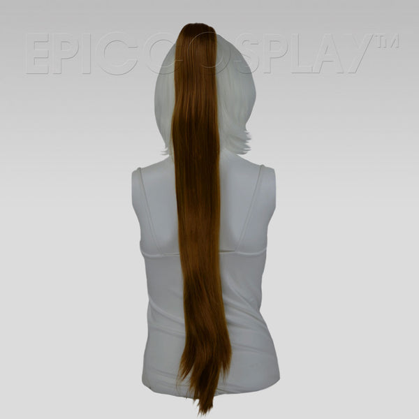 "35"" Light Brown Straight Ponytail Clipon"
