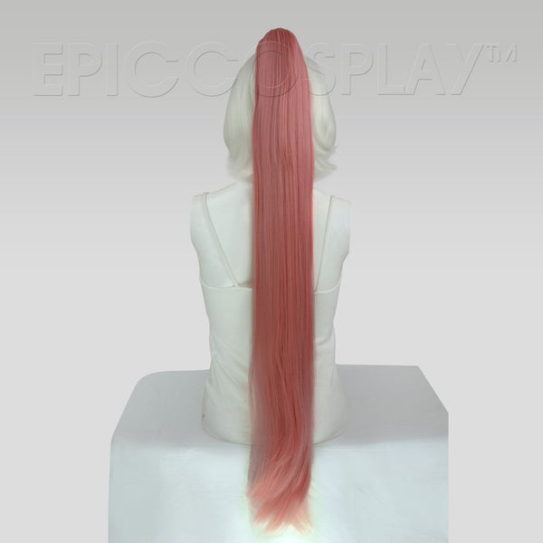 "35"" Princess Dark Pink Mix Straight Ponytail Clipon"