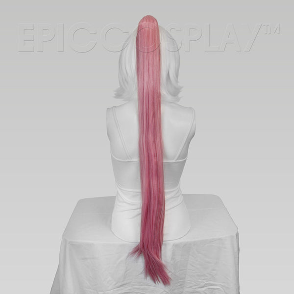 "35"" Princess Pink Mix Straight Ponytail Clipon"