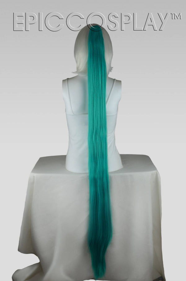 "50"" Straight Ponytail Clipon - Vocaloid Green"