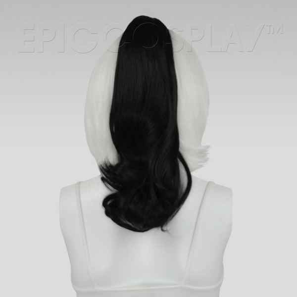 "20"" Black Wavy Curly Ponytail Clipon"