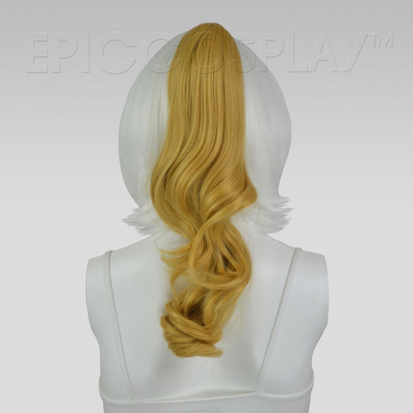 "20"" Caramel Blonde Wavy Curly Ponytail Clipon"