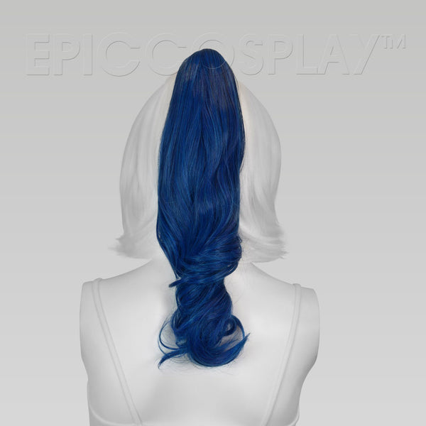 "20"" Shadow Blue Curly Ponytail Clipon"