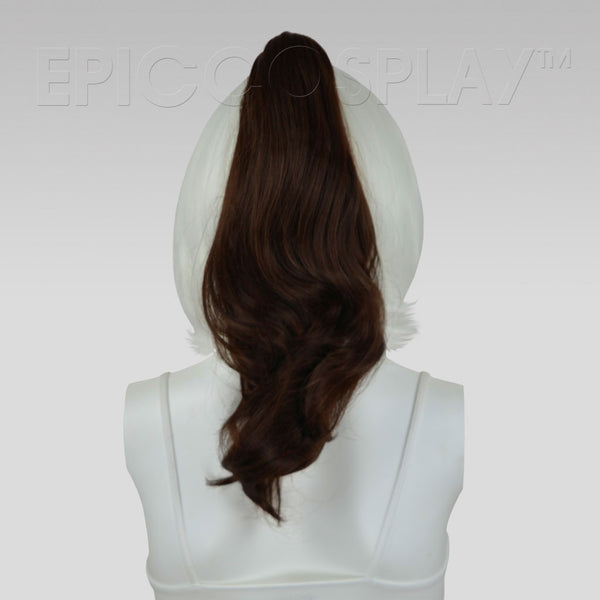 "20"" Dark Brown Wavy Curly Ponytail Clipon"