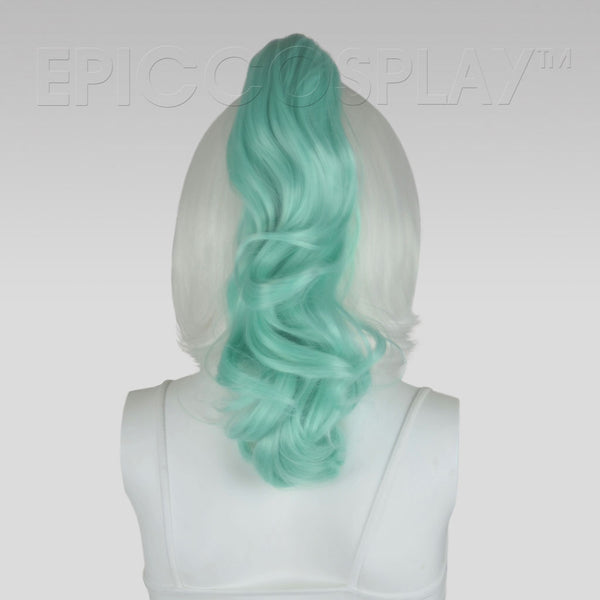 "20"" Mint Green Wavy Curly Ponytail Clipon"
