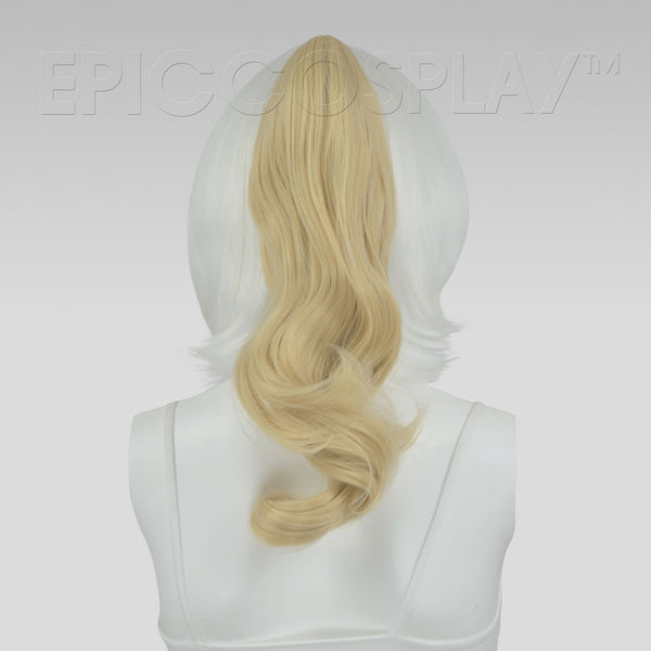 "20"" Curly Natural Blonde Clipon Ponytail"