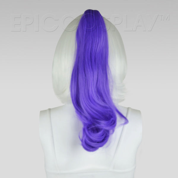 "20"" Classic Purple Wavy Curly Ponytail Clipon"