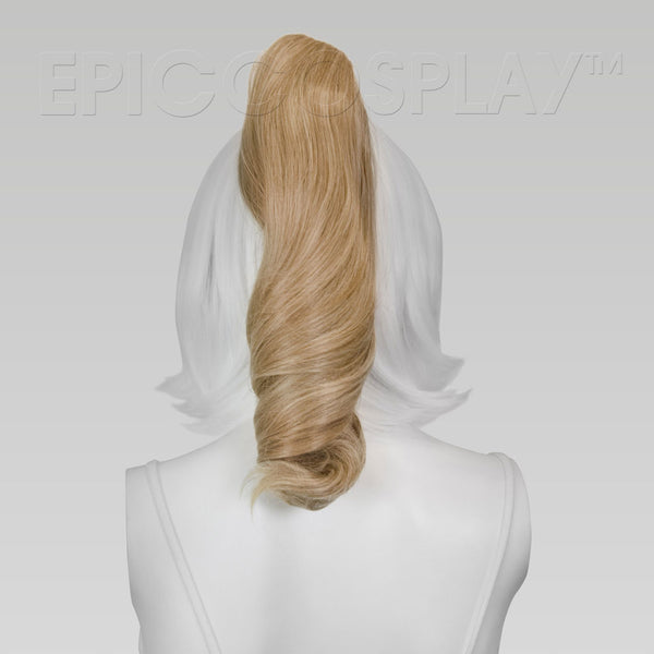 "20"" Strawberry Blonde Wavy Curly Ponytail Clipon"