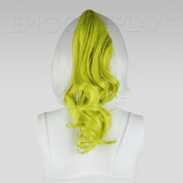 "20"" Tea Green Wavy Curly Ponytail Clipon"