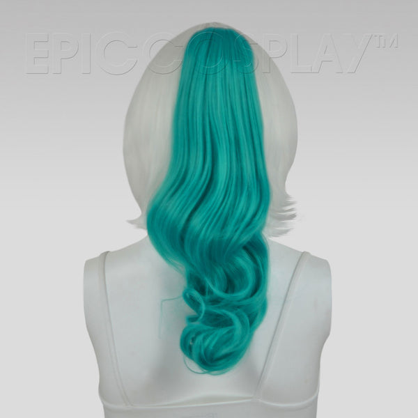 "20"" Vocaloid Green Wavy Curly Ponytail Clipon"