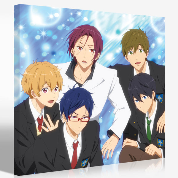 Official Free! Iwatobi Swim Club Canvas Art - Sparkles