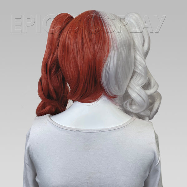 Rhea - Classic White and Dark Red Wig