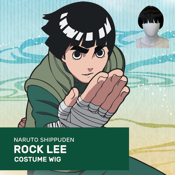 Official Licensed Viz Media Naruto Cosplay Wig: Rock Lee