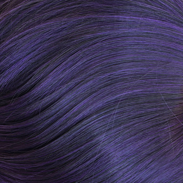 "18"" Ponytail Wrap - Purple Black Fusion"