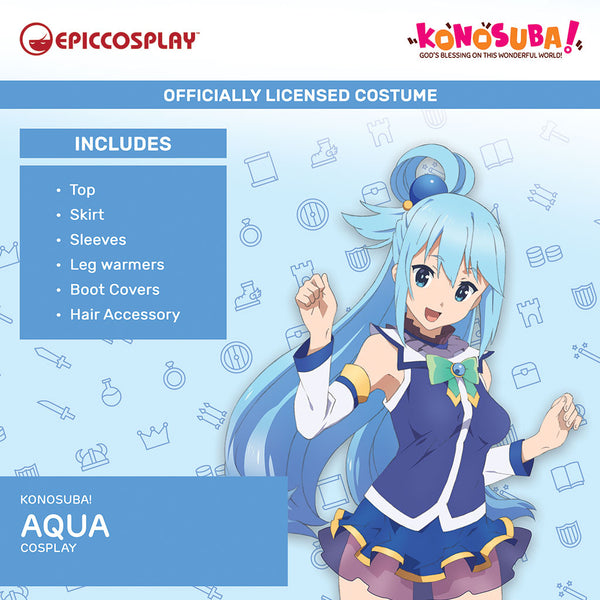 Konosuba Aqua Licensed Costume Cover