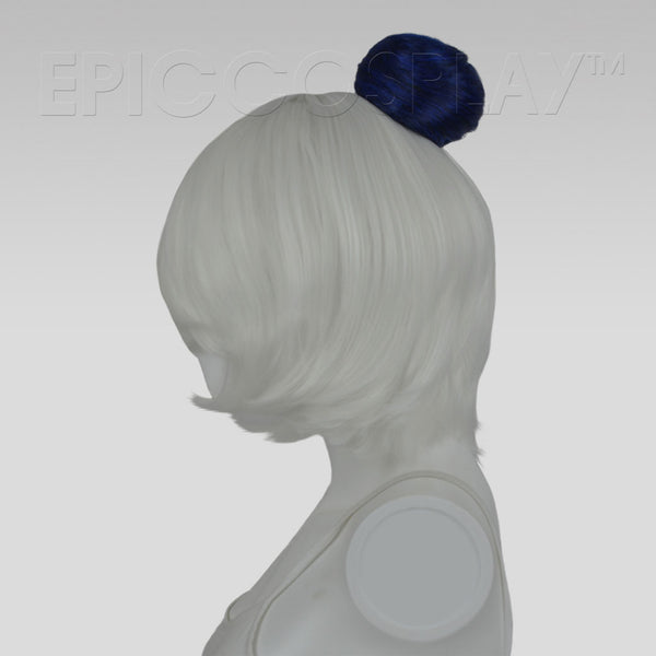 Hair Bun Extension - Blue Black Fusion