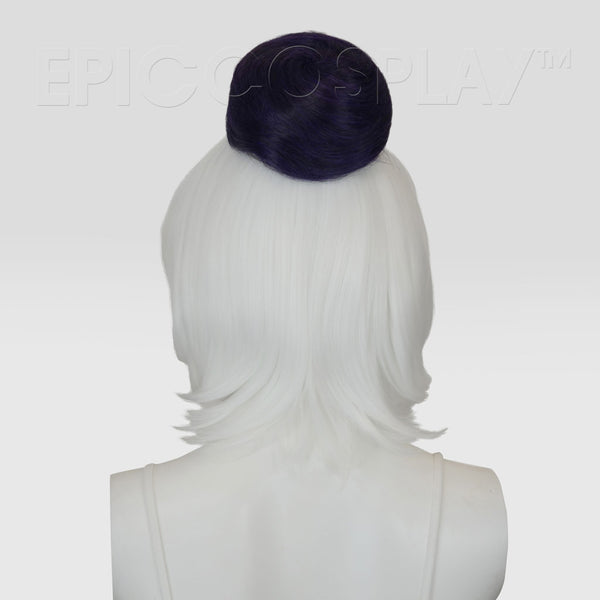 Hair Bun Extension - Purple Black Fusion