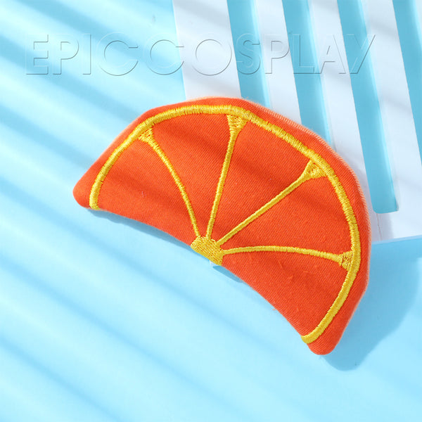 Fabric Fruit Hair Clip