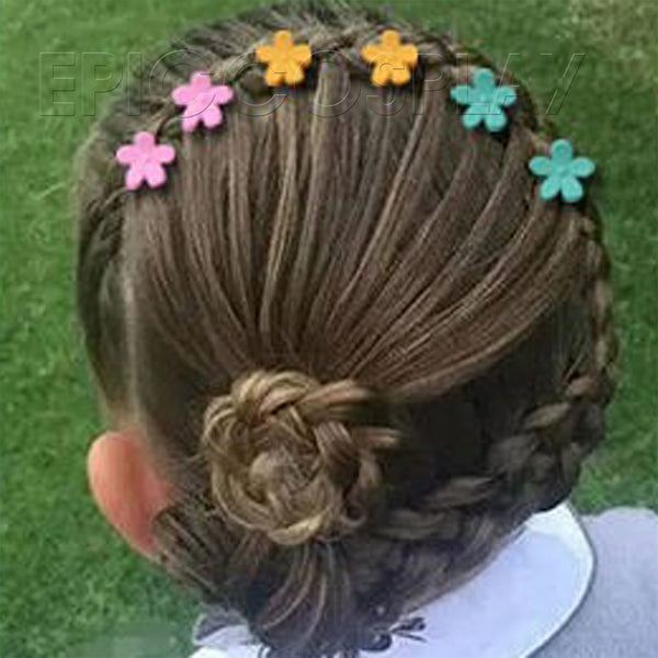 Mini Flower Hair Claw Clip