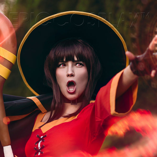 Official Licensed Konosuba: God's Blessing on this Wonderful World! Cosplay Wig: Megumin