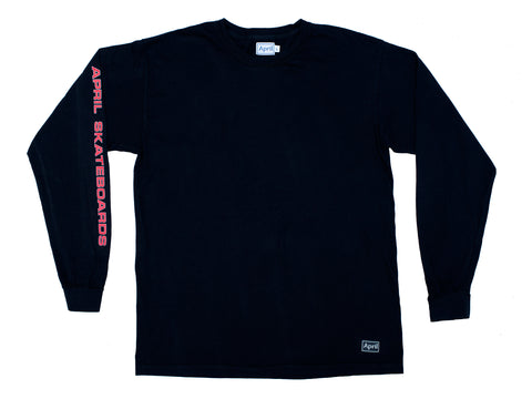APRIL LS TEE - BLACK