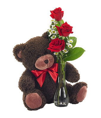 Classic Vase With Cute Teddy