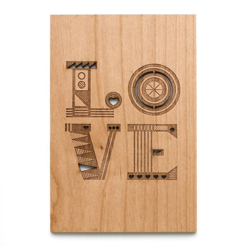 Wood LOVE Card