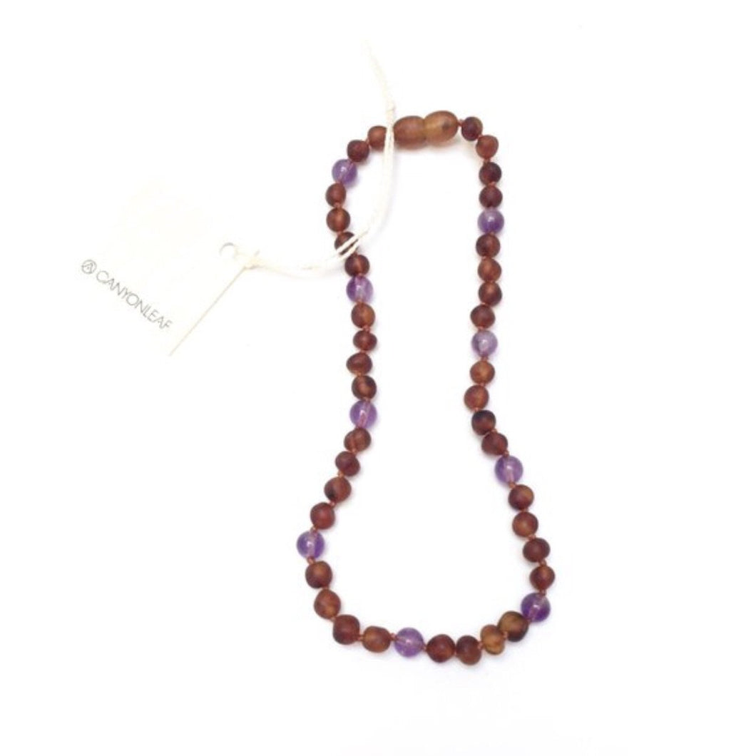 Amber + Amethyst Necklace