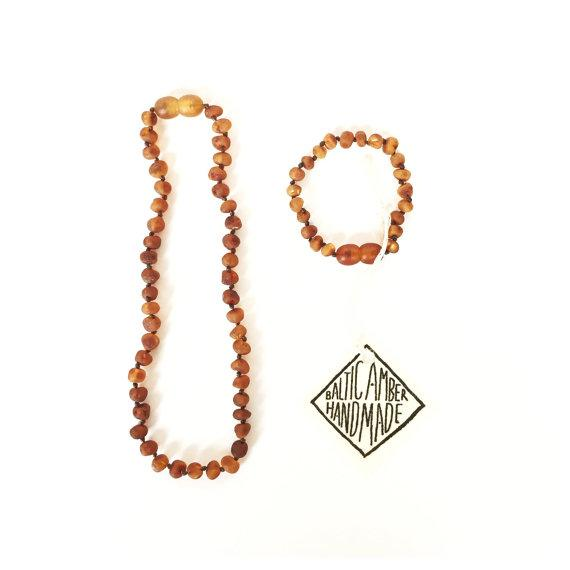 Amber Bracelet + Necklace Set
