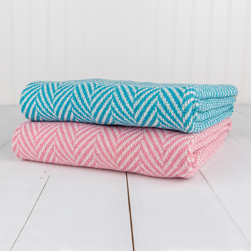 Herringbone Baby Throw