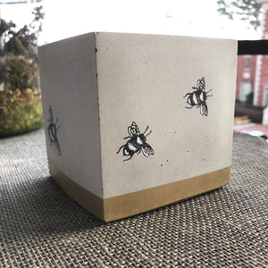 Bee Concrete Planter