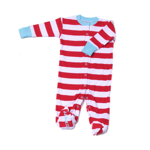 Candy Stripe Baby Romper