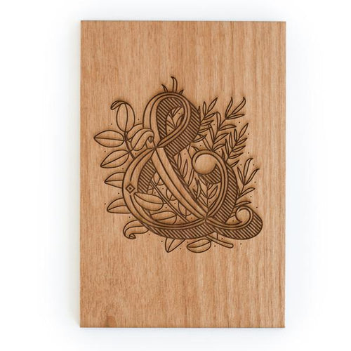 Ampersand Wood Card