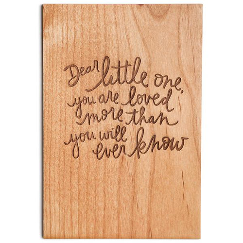 Dear Little One Wood Card