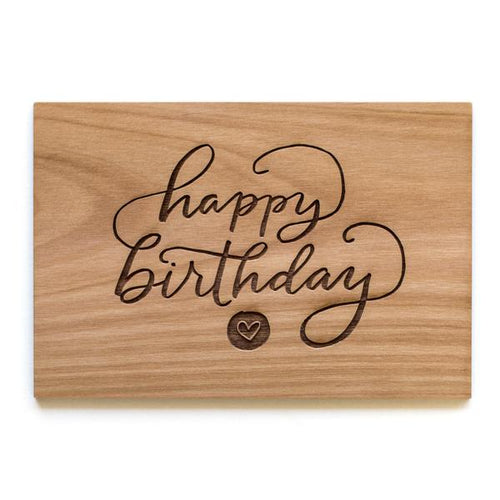 Happy Birthday Wood Card
