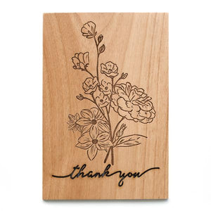 Thank You Wood Card