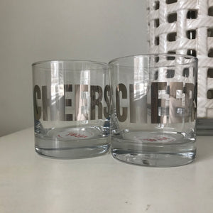Cheers Rocks Glasses