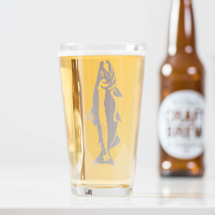 Gone Fishin' Pint Glasses