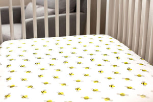 Organic Crib Sheet Bees