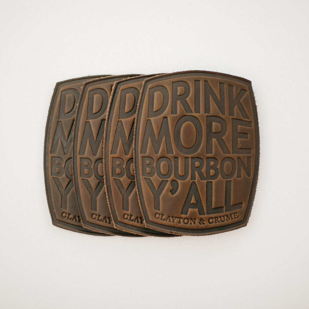 Leather Bourbon Coasters