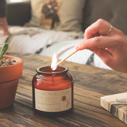 Sweet Orange + Rosemary Candle