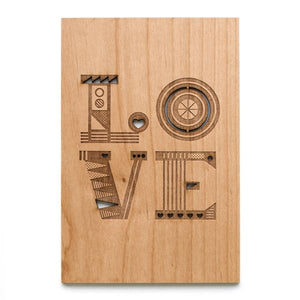 LOVE Wood Card
