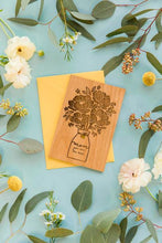 Mother's Day Bouquet Wood Card