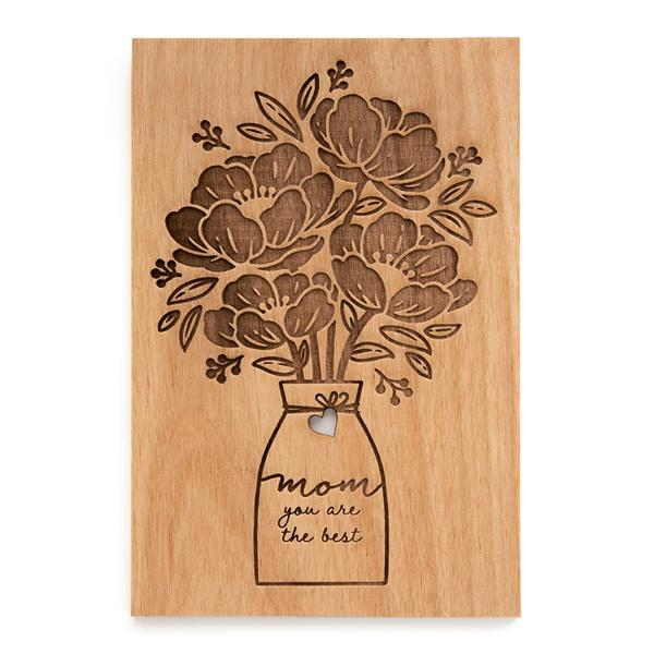 Bouquet Wood Card