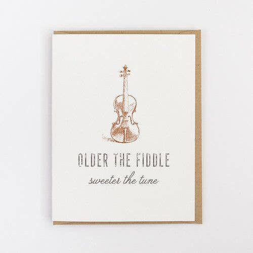 Older the Fiddle Birthday Card