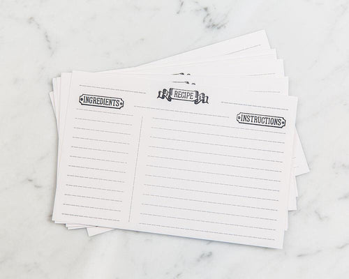 Letterpress Recipe Cards (set of 10)