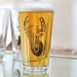 Stag Pint Glasses