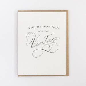 You're Vintage Birthday  Card